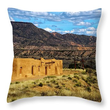 Abiquiu Church Throw Pillow