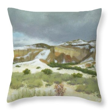 Abiquiu In Winter Throw Pillow