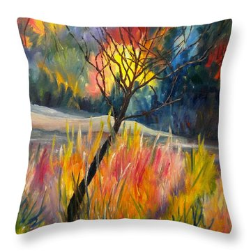 Ablaze Throw Pillow by Renate Nadi Wesley