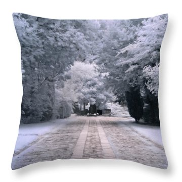 Abney Park Entrance Throw Pillow
