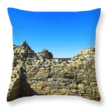 Throw Pillow featuring the photograph Abo Mission Ruins New Mexico by Jeff Swan