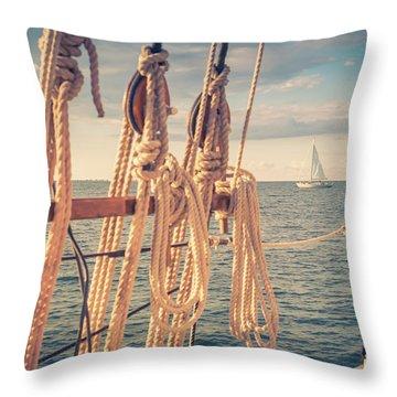 Aboard The Edith M Becker Throw Pillow