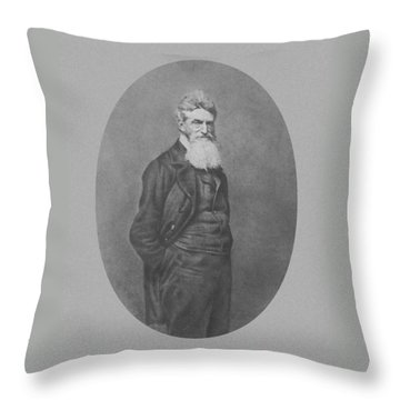 Abolitionist John Brown Throw Pillow by War Is Hell Store