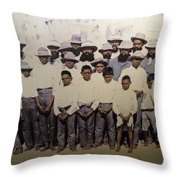 Throw Pillow featuring the photograph Aboriginal Life 1901 To 1914 by Miroslava Jurcik