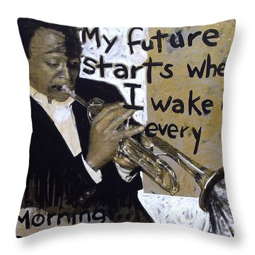 About My Future Throw Pillow