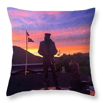 Merchant Marine Statue Throw Pillow
