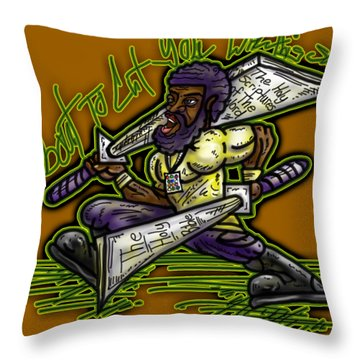 About To Cut You With This Sword Throw Pillow