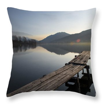 About To Rise Throw Pillow by Yuri Santin