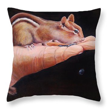 About Trust Throw Pillow by Jean Cormier