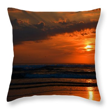 Above And Below Throw Pillow by Dianne Cowen