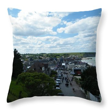 Above Arromanches-les-bains Throw Pillow