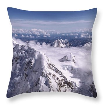 Above Denali Throw Pillow
