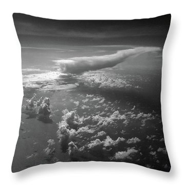 Above Earth 1 Throw Pillow by Cedric Hampton