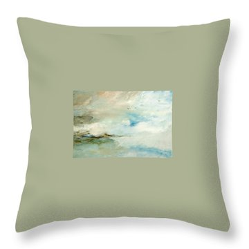 Throw Pillow featuring the painting Above It All by Dina Dargo