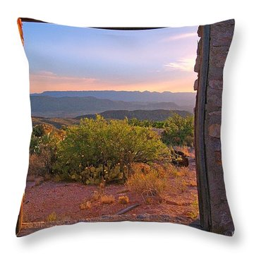 Above Lajitas Throw Pillow