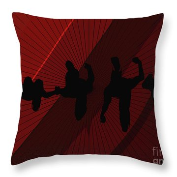 Above Perspective Throw Pillow
