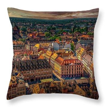 Above Strasbourg Throw Pillow