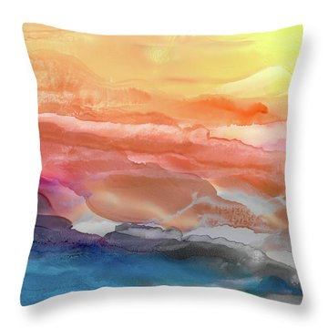 Above The Abyss Throw Pillow