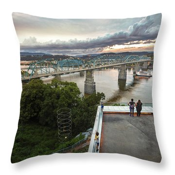 Above The Bluff, Musuem View Throw Pillow by Steven Llorca