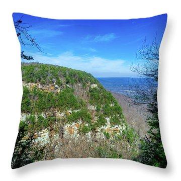 Above The Canyon Throw Pillow
