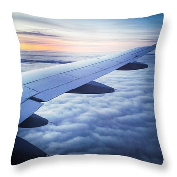 Above The Clouds 01 Throw Pillow by Matthias Hauser