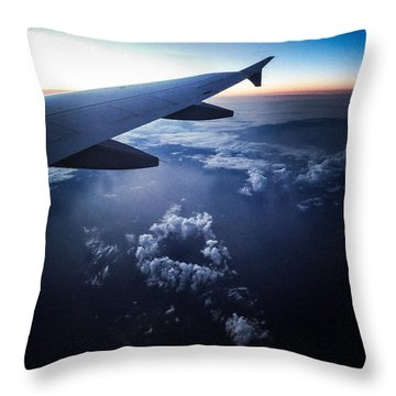 Above The Clouds 02 Heart Cloud Throw Pillow by Matthias Hauser