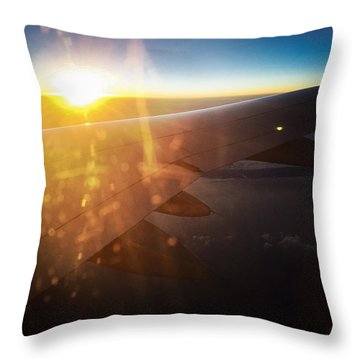 Above The Clouds 03 Warm Sunlight Throw Pillow