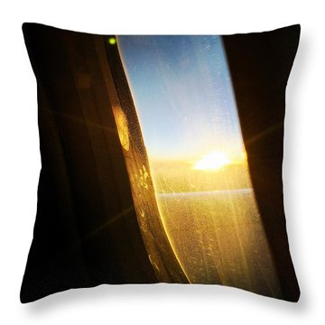 Above The Clouds 05 - Sun In The Window Throw Pillow