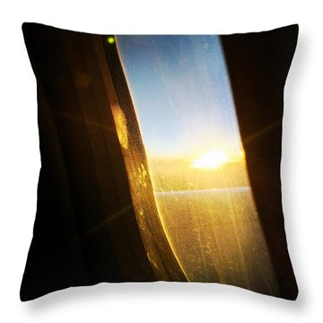 Above The Clouds 05 - Sun In The Window Throw Pillow by Matthias Hauser