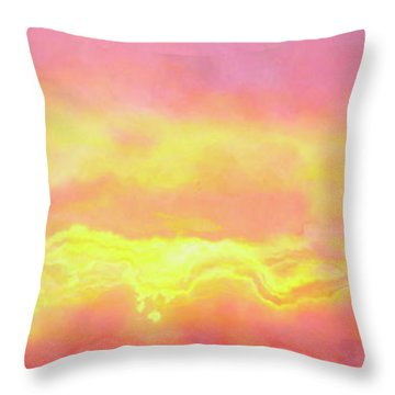 Above The Clouds - Abstract Art Throw Pillow