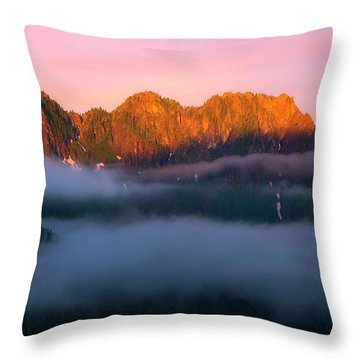 Above The Clouds Throw Pillow by Ryan Manuel