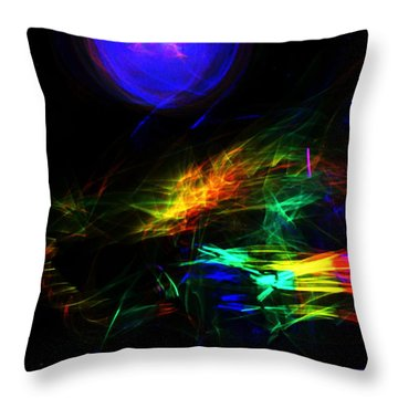 Above The Cosmic Sea Throw Pillow