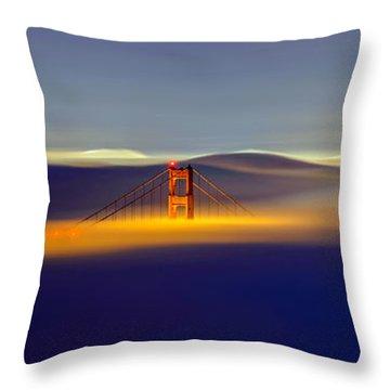Above The Fog II Throw Pillow