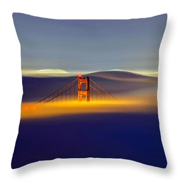Above The Fog II Throw Pillow