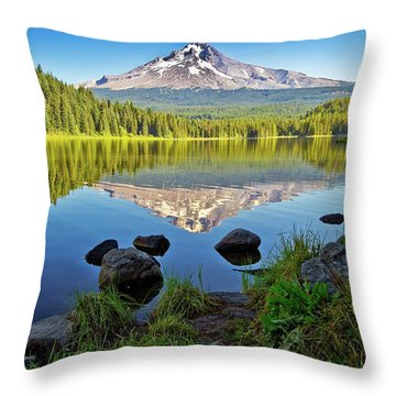 Above The Lake Throw Pillow