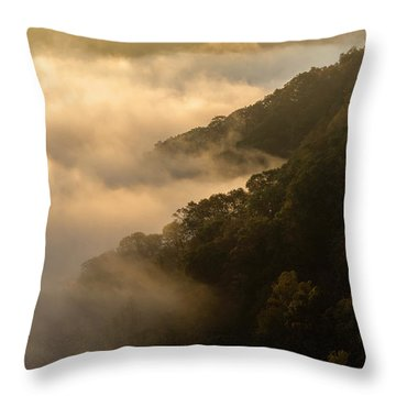 Throw Pillow featuring the photograph Above The Mist - D009960 by Daniel Dempster