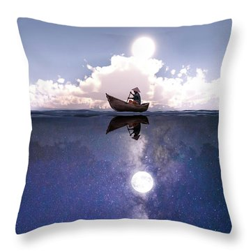 Above The Night Throw Pillow