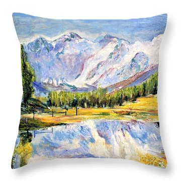 Above The Sea Level Throw Pillow