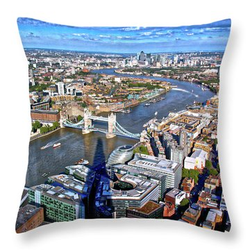 Above The Shadow Of The Shard Throw Pillow by Jim Albritton