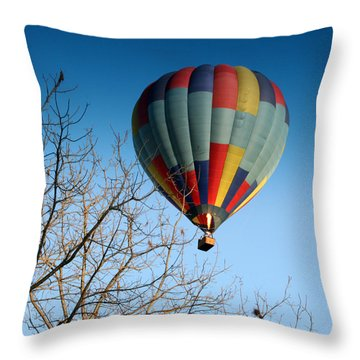 Above The Tree Tops Throw Pillow by George Jones