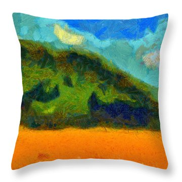 Above The Woods Throw Pillow