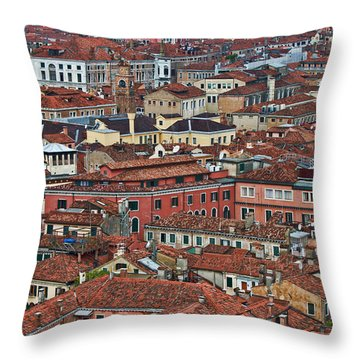 Above Venice Throw Pillow