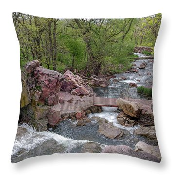 Above Winnewissa Falls 2 Throw Pillow