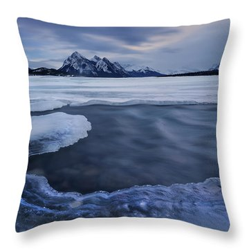 Abraham Lake Sans Bubbles Throw Pillow