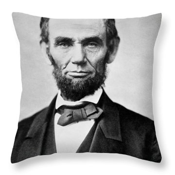 Abraham Lincoln -  Portrait Throw Pillow by International  Images