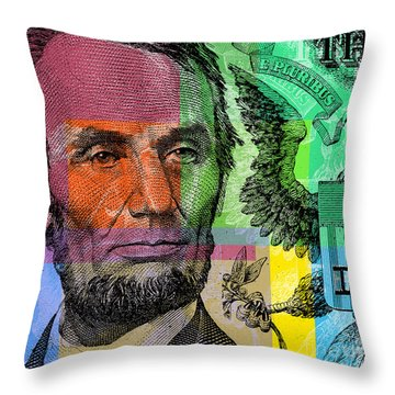 Abraham Lincoln - $5 Bill Throw Pillow