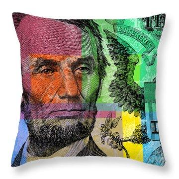 Abraham Lincoln - $5 Bill Throw Pillow