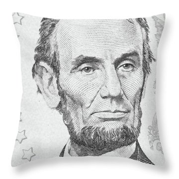 Throw Pillow featuring the photograph Abraham Lincoln by Les Cunliffe