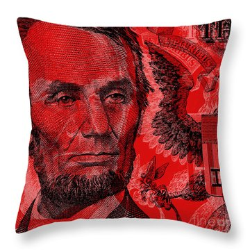 Abraham Lincoln Pop Art Throw Pillow