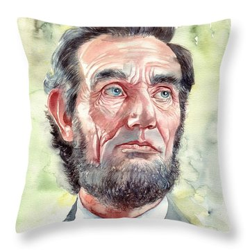 Abraham Lincoln Portrait Throw Pillow